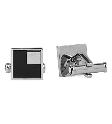 MONTBLANC Square onyx cufflinks