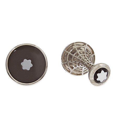 MONTBLANC Round skeleton star cufflinks