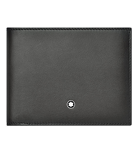 MONTBLANC Meisterstück six credit card leather wallet