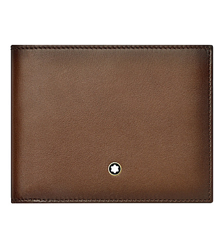 MONTBLANC Meisterstuck six credit card leather wallet (Brown