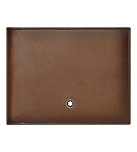 MONTBLANC Meisterstuck six credit card leather wallet