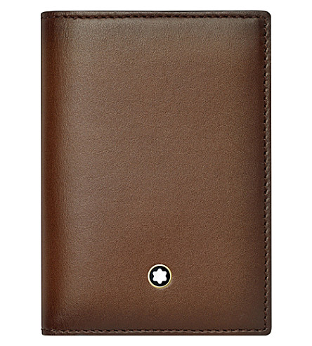 MONTBLANC Meisterstück leather business card holder (Brown