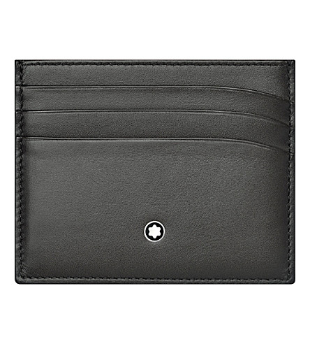 MONTBLANC Meisterstück leather six credit card pocket holder (Flannel