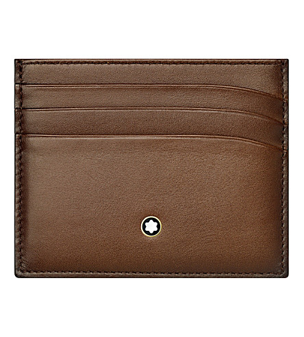 MONTBLANC Meisterstück leather six credit card pocket holder (Brown