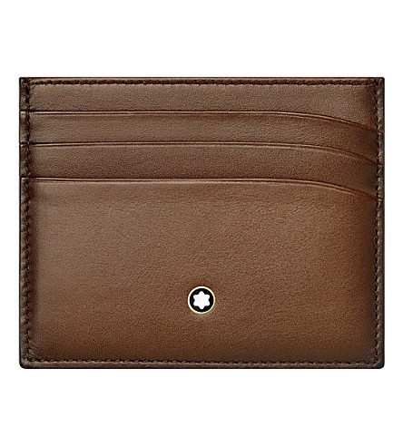 MONTBLANC Meisterstück leather six credit card pocket holder