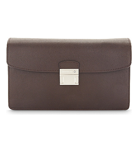 MONTBLANC Sartorial leather clutch