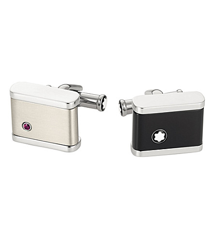 MONTBLANC Creativereversible onyx cufflinks