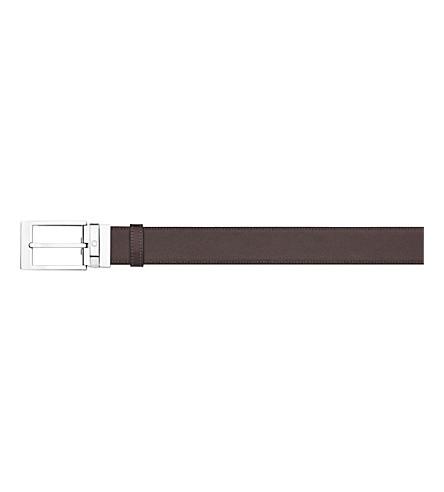 MONTBLANC Reversible leather belt (Black+/+brown