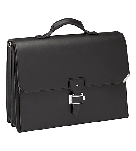 MONTBLANC Urban Spirit double gusset leather briefcase