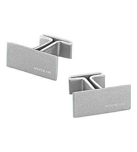 MONTBLANC M stainless steel cufflinks