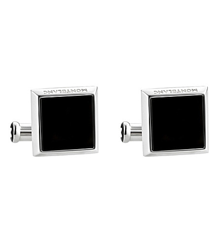 MONTBLANC Sartorial square onyx cuff links