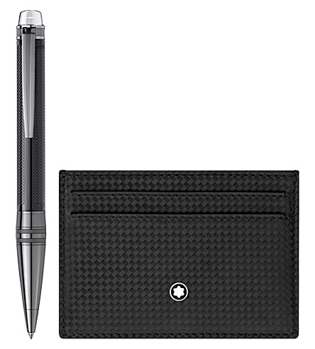 MONTBLANC StarWalker Extreme ballpoint pen and Extreme leather 5cc pocket holder set