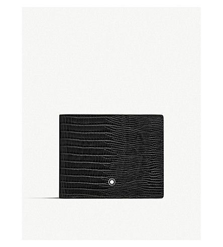 Meisterstück Selection Lizard Wallet 6cc(116285)