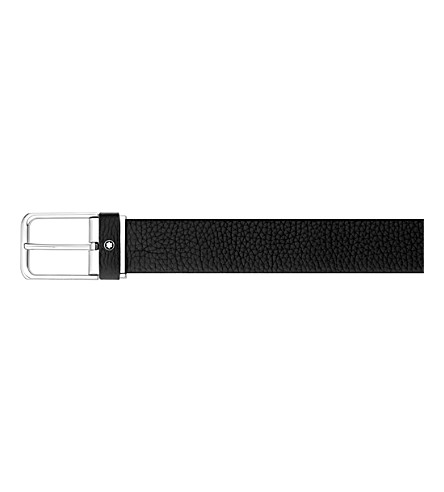 MONTBLANC Rectangluar leather belt