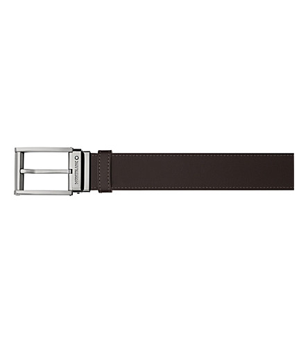 MONTBLANC Square buckle leather belt