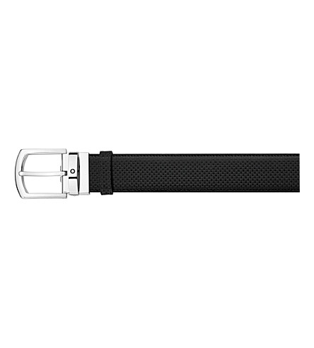 MONTBLANC Curved buckle leather belt