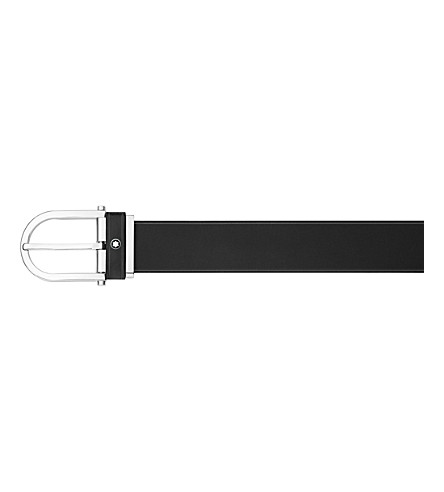 MONTBLANC Horseshoe buckle leather belt