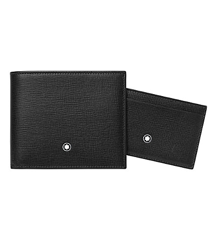 MONTBLANC Leather wallet and pocket holder gift set