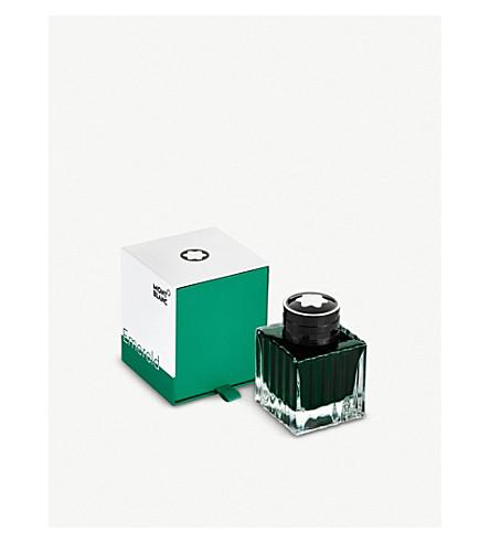 montblanc emerald green ink bottle 50ml selfridges com