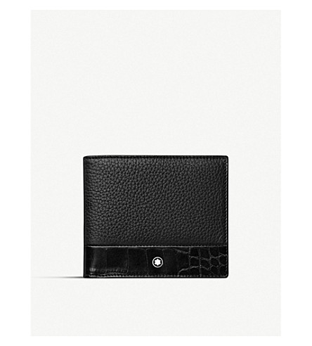 Meisterstück Soft Grain contrast-panel 6-card leather wallet(118752)