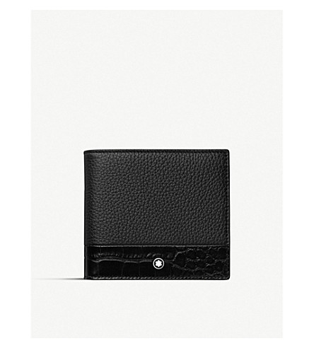 Meisterstück Soft Grain contrast-panel 4-card leather wallet with coin case(118758)
