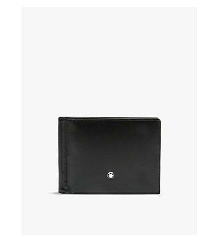 MONTBLANC Meisterstück 6 credit card wallet with money clip