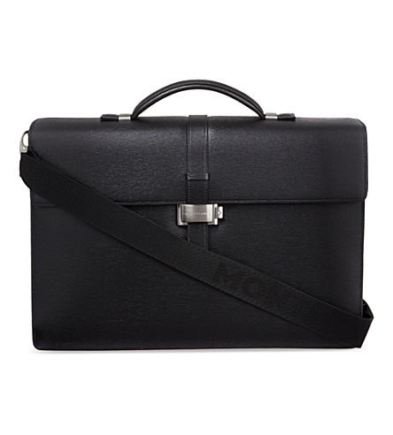 MONTBLANC Westside double gusset briefcase (Black