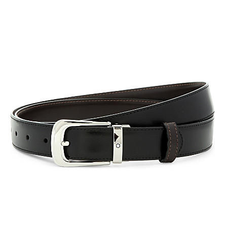 Reversible leather belt(BELTHORSESHINY3)