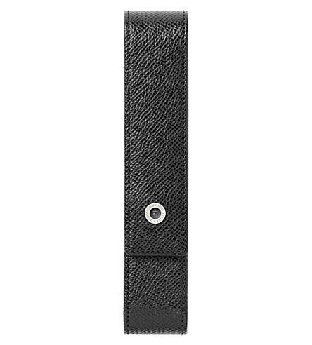 GRAF VON FABER-CASTELL 粒面皮革一个笔盒,盒