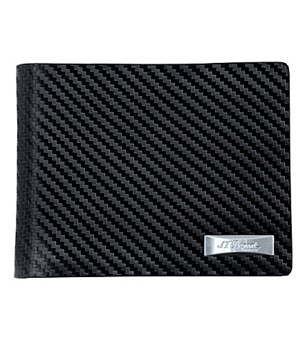 S.T.DUPONT Défi carbon leather billfold wallet