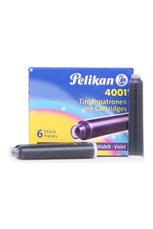 PELIKAN Fountain pen cartridges violet pack of six