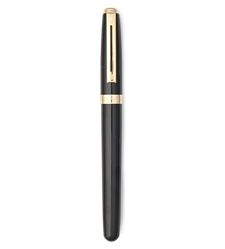 CARAN D'ACHE Prelude rollerball black laque with 22k gold plate trim