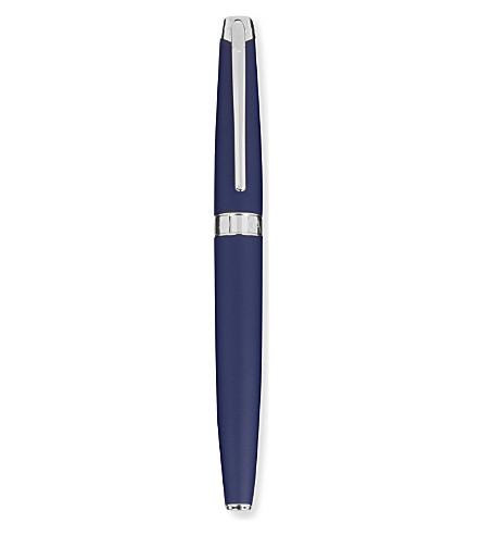 CARAN D'ACHE Léman blue 18K gold nib rollerball pen