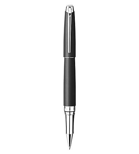 CARAN D'ACHE Léman rohdium-coated silver matte roller pen