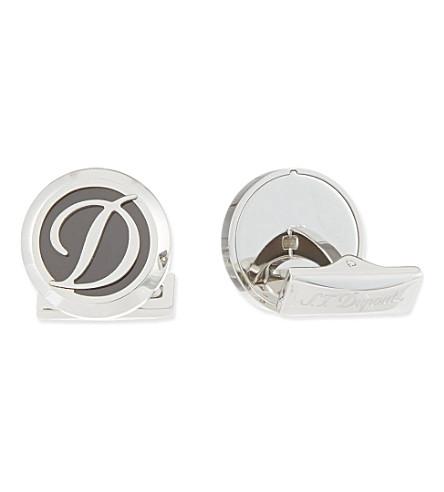S.T.DUPONT Logo steel cufflinks