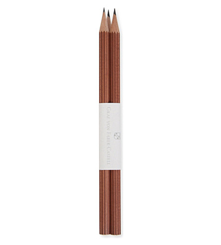 GRAF VON FABER-CASTELL 3 brown pencils