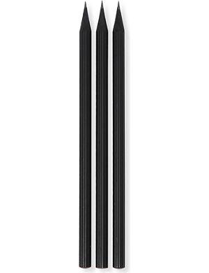 GRAF VON FABER-CASTELL 3 black pencils