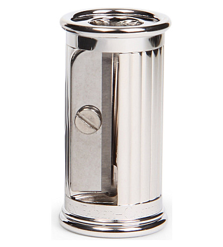 GRAF VON FABER-CASTELL Small platinum-plated pencil sharpener