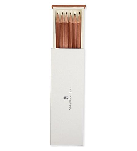 GRAF VON FABER-CASTELL 棕色银色帽子铅笔