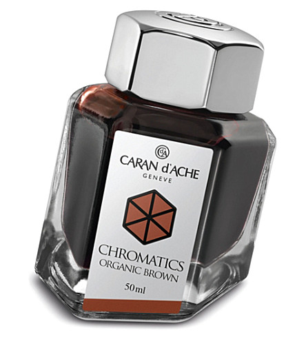 CARAN D'ACHE Chromatics organic brown ink bottle 50ml