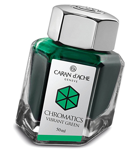 CARAN D'ACHE Chromatics vibrant green ink bottle 50ml