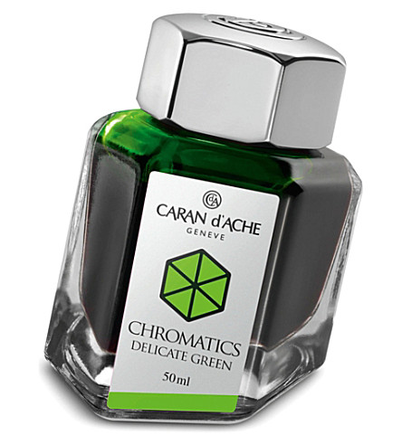 CARAN D'ACHE Chromatics delicate green ink bottle 50ml