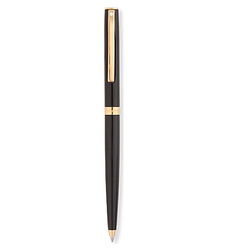 SHEAFFER Sagaris black gold trim ballpoint pen