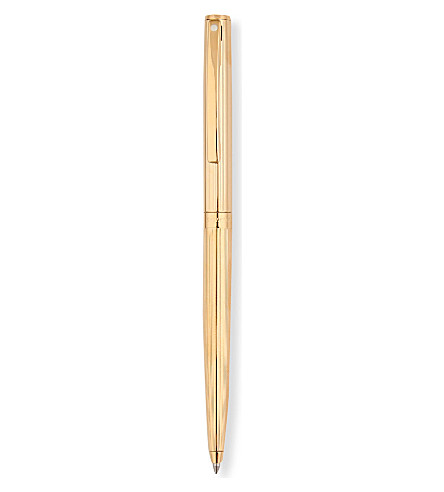 SHEAFFER Sagaris fluted gold-tone ballpoint pen