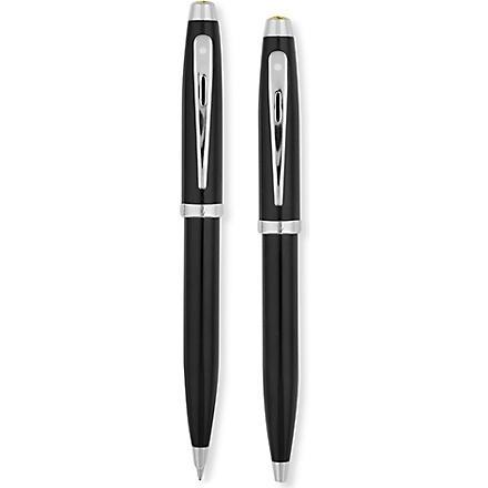 SHEAFFER Ferrari 100 gloss black ballpoint pen and pencil set