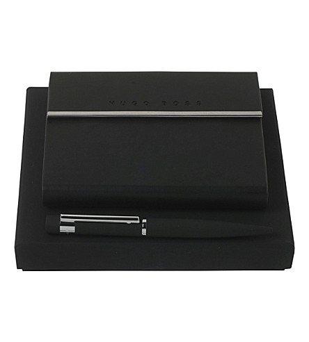 BOSS HUGO BOSS Loop A6 notepad and ballpoint pen