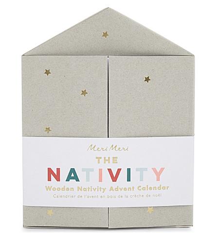 MERI MERI Wood nativity calendar