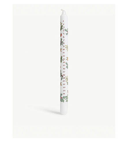 ADVENT CALENDARS Holly and ivy advent candle 29cm