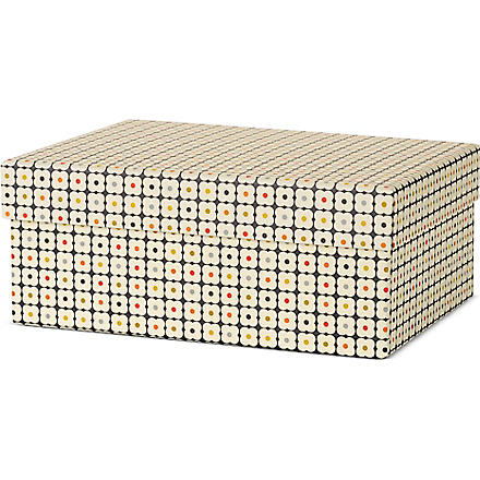 ORLA KIELY Medium black abacus gift box