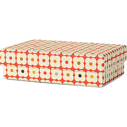 ORLA KIELY Tiny orange flower gift box
